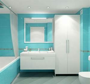 Meuble Salle De Bain Turquoise : impressionnant carrelage salle de bain marron 3 salle ~ Dailycaller-alerts.com Idées de Décoration