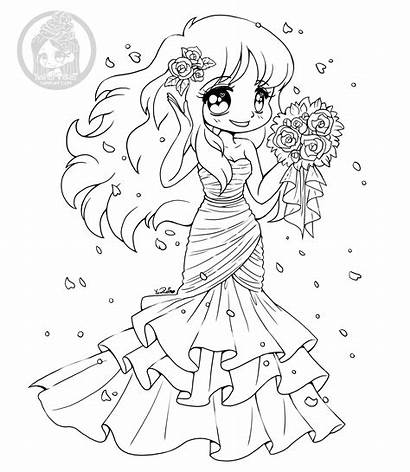 Coloring Pages Brides Yampuff Stuff