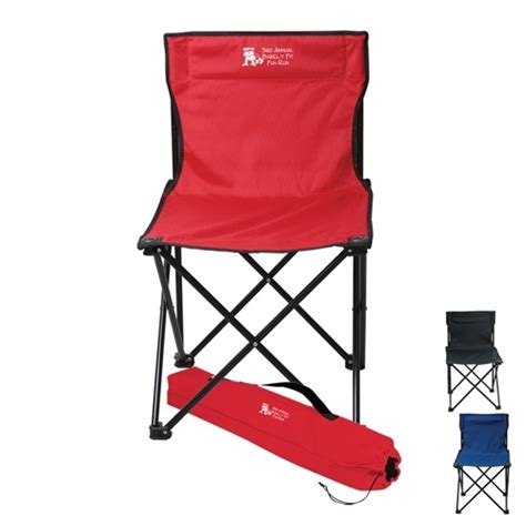 price buster folding chair with carrying bag with custom