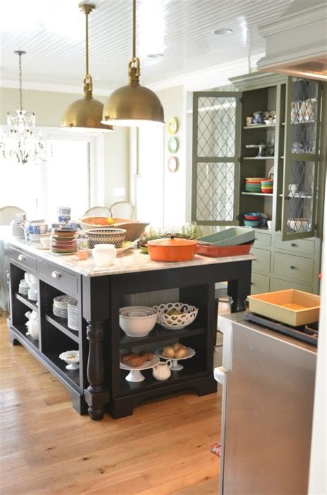 kitchen island with open shelves living with open shelving the pros and cons in grace 8257