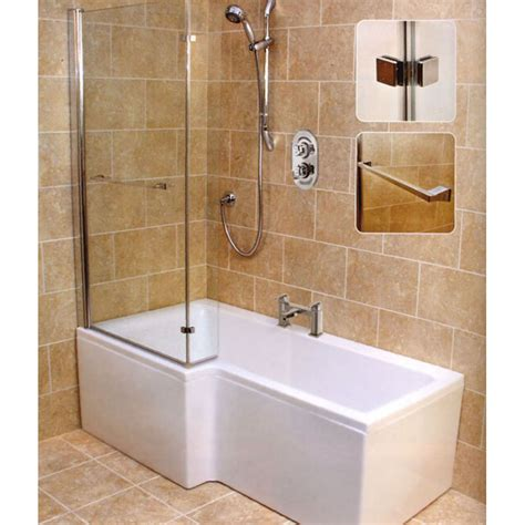 L Shape Shower Bath (left Handed) Buy Online At Bathroom City