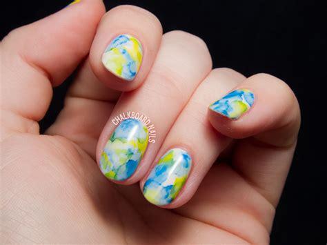 Sharpie Marbled Gel Nails