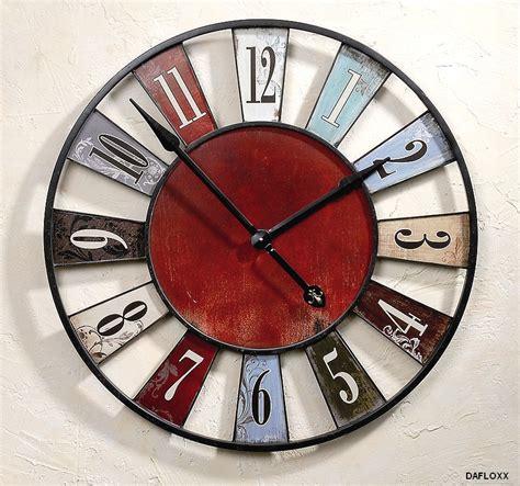 grosse horloge murale ancienne horloge murale ancienne rustique bleu diam 232 tre 75 cm ebay