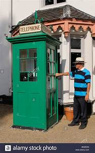 Historic Grade Ii Listed Green Telephone Box Outside Boulters Inn On Stock Photo  Royalty Free