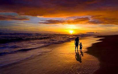 Son Father Sunset