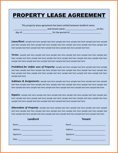commercial lease agreement template word purchase