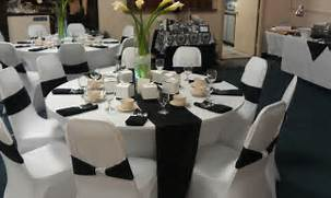 Table Decorations Black And White Theme Black White Theme Wedding Simplistic Charm