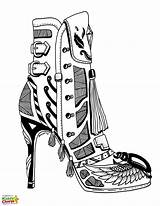 Coloring Heel Shoe Pages Shoes Adults Adult Heels 70s Printable Drawing Colouring Books Sheets Kiddycharts Colour Sketches Vibe Getcolorings Modern sketch template