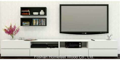 China Modern Living Room White Wooden Tv Stand Cabinet