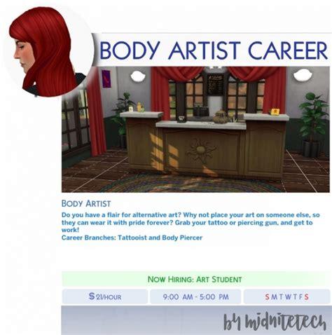 body artist career  midnitetechs simblr sims  updates