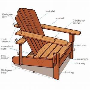 Herregård: Adirondack stol tegninger