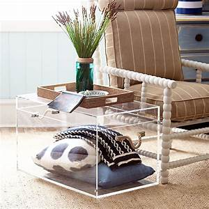 8 pieces of transparent furniture that give any room a With clear acrylic trunk coffee table