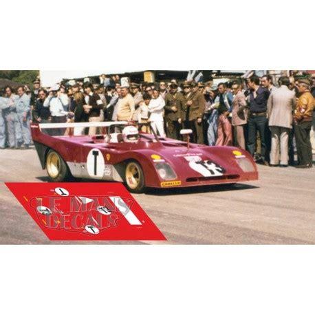 Arturo merzario brings the ferrari 312pb across the line to win the targa florio, sicily, 21st may 1972. Ferrari 312 PB - Targa Florio 1973 nº3T - LEMANSDECALS