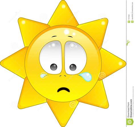 sun l for sad le soleil pleure illustration de vecteur image du