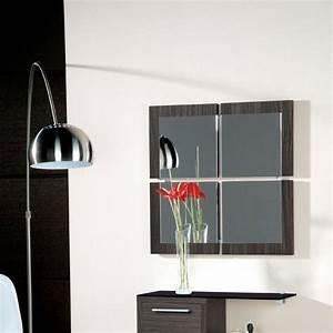Miroirs Design Contemporain : meuble entree miroir cedre gris magritte zd1 meu dentr ~ Teatrodelosmanantiales.com Idées de Décoration