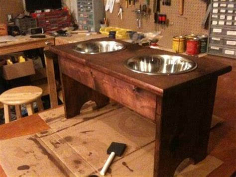 plans  build woodworking plans dog bowl stand  plans