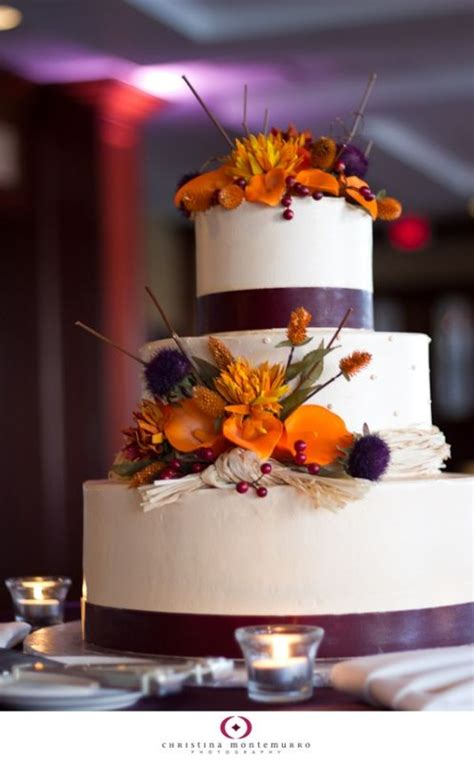 Reception Decor Suggestions For My Purple And Orange Fall