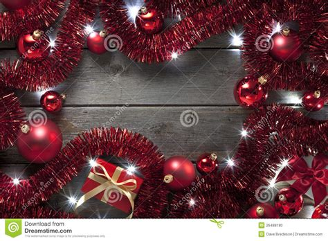 christmas lights tinsel background stock photo image