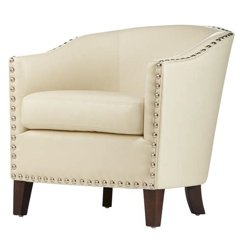 home decorators collection ivory bonded leather club