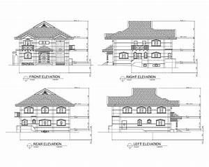 modern house plan section elevation – Modern House