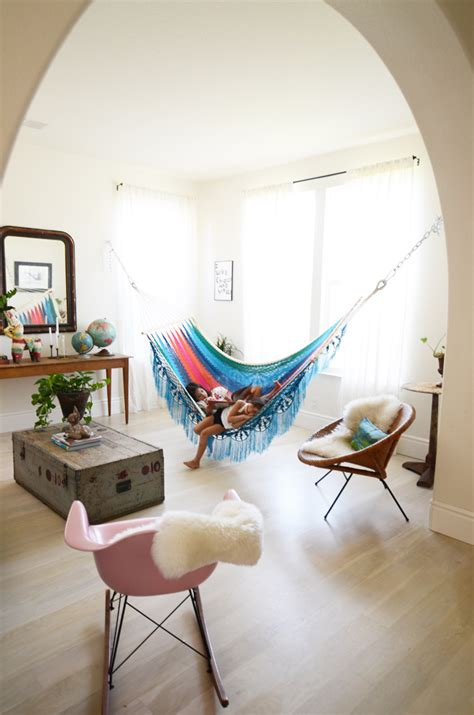 It's Swing Time With Indoor Hammocks  Inspiring. Rooms To Go Lamps. Bed Ideas For Small Room. Decor Unique. Decorative Ceiling Beams