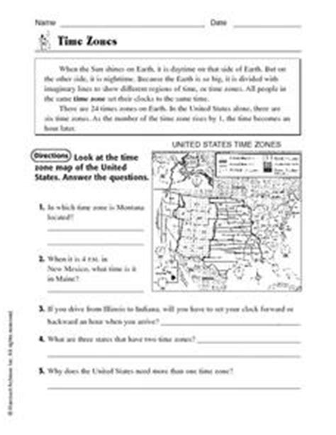 time zones 4th 5th grade worksheet lesson planet