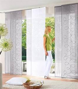 Schiebegardinen Grau Weiß : 2 st schiebegardine 57 x 225 grau bestickt schiebevorhang ~ A.2002-acura-tl-radio.info Haus und Dekorationen