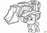 Coloring Paw Patrol Pages Bulldozer Rubbles Rubble Printable Drawing Paper Puzzle Dot Skip Main sketch template
