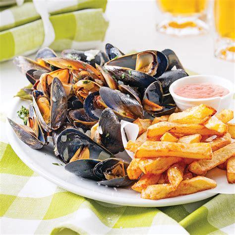 cuisine moules moules frites à la belge recettes cuisine et nutrition