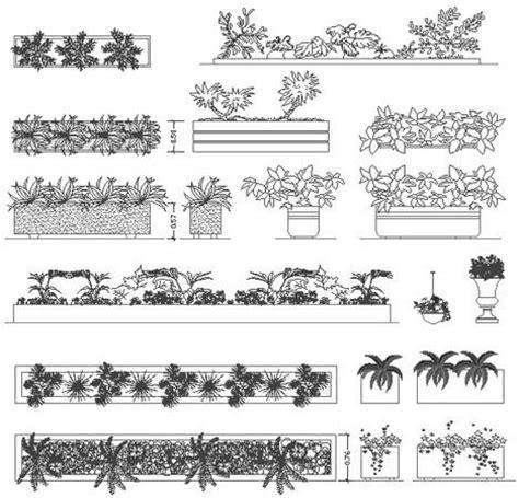 vasi dwg fioriere e aiuole disegni fioriere dwg