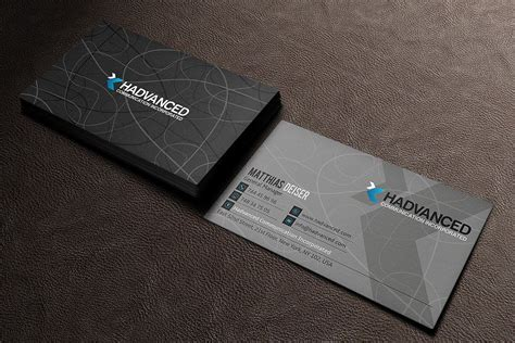 That's very hard to do with the business card sized ones. Grey Business Card (35675) | Business Cards | Design Bundles