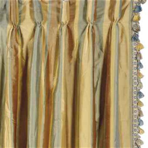 six striped silk curtain panels late 20th century