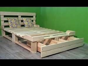 Comment Faire Un Lit En Palette : 8 bonnes id es pour fabriquer un lit en palettes de bois youtube ~ Nature-et-papiers.com Idées de Décoration