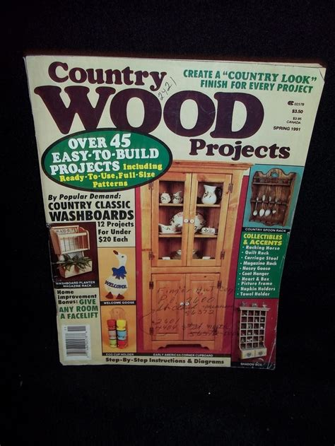 country wood projects magazine   build pinterest magazines projects  country
