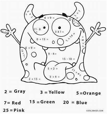 Math Coloring Pages Halloween Printable