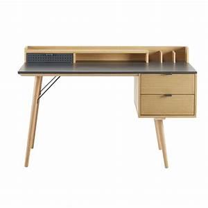 Maison Du Monde Bureau Fille : bureau 3 tiroirs bronx maisons du monde ~ Melissatoandfro.com Idées de Décoration