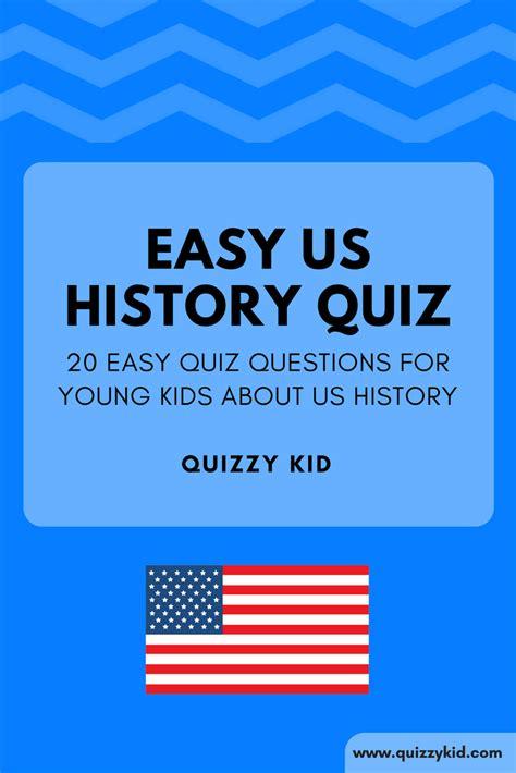 easy american history trivia quizzy kid