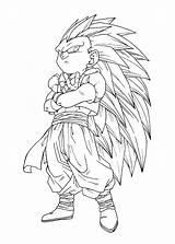 Dragon Ball Coloring Gotenks Super Pages Saiyan Gohan Goten Adult Goku Saiyajin Coloriages Simple Imprimer Vegeta Children God Popular Boo sketch template