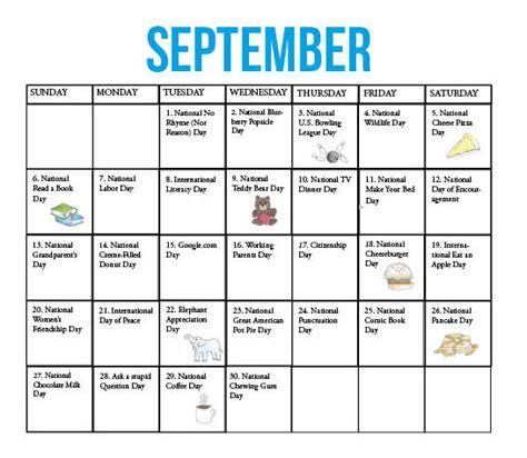 kirkwood call fun national holidays september
