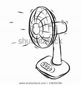 Fan Cartoon Clipart Portable Hand Working Electrical Drawn Illustration Vector Sketch Background Isolated Shutterstock Pic Royalty Preview Clipground sketch template
