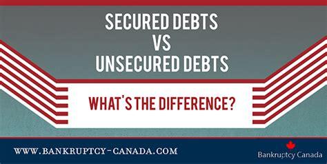 secured debts  unsecured debts  bankruptcy  canada