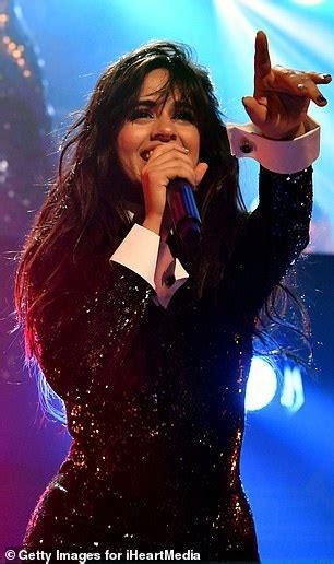 Camila Cabello Dazzles Glittering Black Jumpsuit