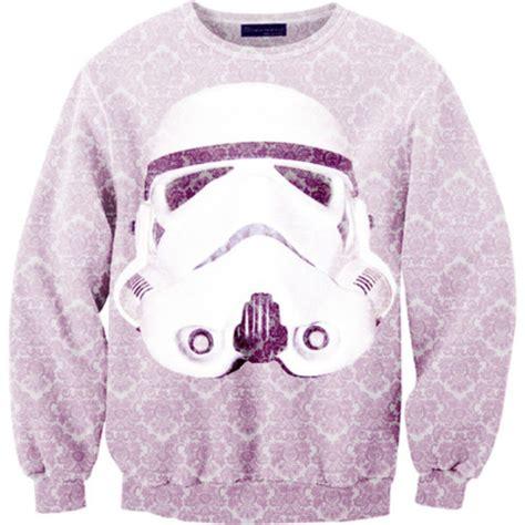 stormtrooper sweater sweater stormtrooper wars purple white black