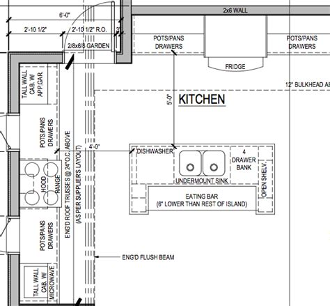 floor plan of kitchen with dimensions happy kitchen layout island best design ideas 6603 in plan 9678