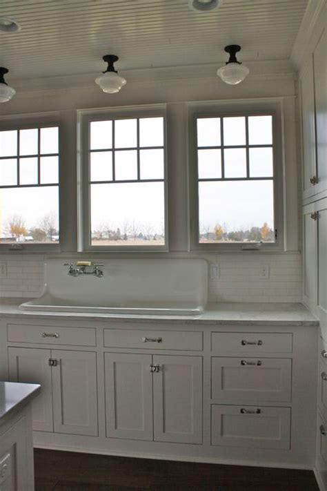 beadboard ceiling schoolhouse lighting white grey marble