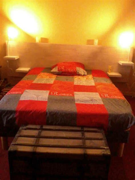 tete de lit en bois de palettes recycle pallet bed