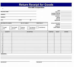 free receipt templates page 2 of 3 word excel formats With return invoice template