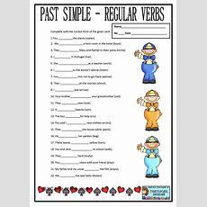Past Simple Regular Verbs  Teaching  2nd Grade  Past Tense Worksheet, Regular Past Tense