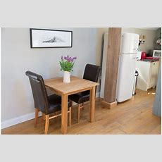 Small Kitchen Table And Leather Chair Set In Yorkshire
