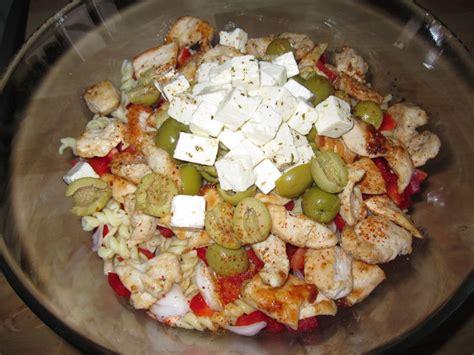 salade de pates poulet salade de p 226 tes au poulet a bista de nas